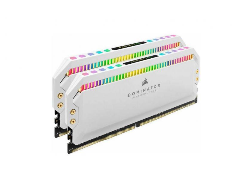 RAM Corsair Dominator Platinum White RGB 16GB (2X8GB) DDR4 3200MHz C16 (CMT16GX4M2C3200C16W)