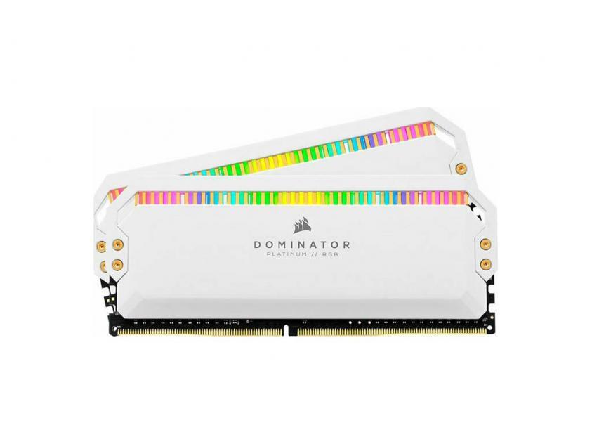 RAM Corsair Dominator Platinum White RGB 16GB (2X8GB) DDR4 3200MHz C16  (CMT16GX4M2Z3200C16W)