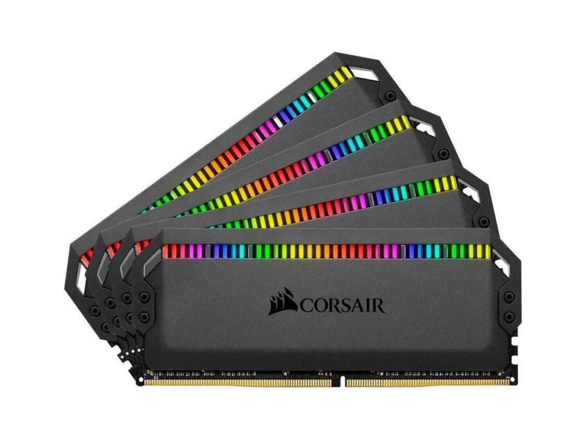 RAM Corsair Dominator Platinum RGB 32GB (4X8GB) DDR4 3000MHz C15 (CMT32GX4M4C3000C15)