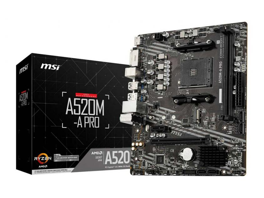Motherboard MSI A520M-A Pro (7C96-001R)