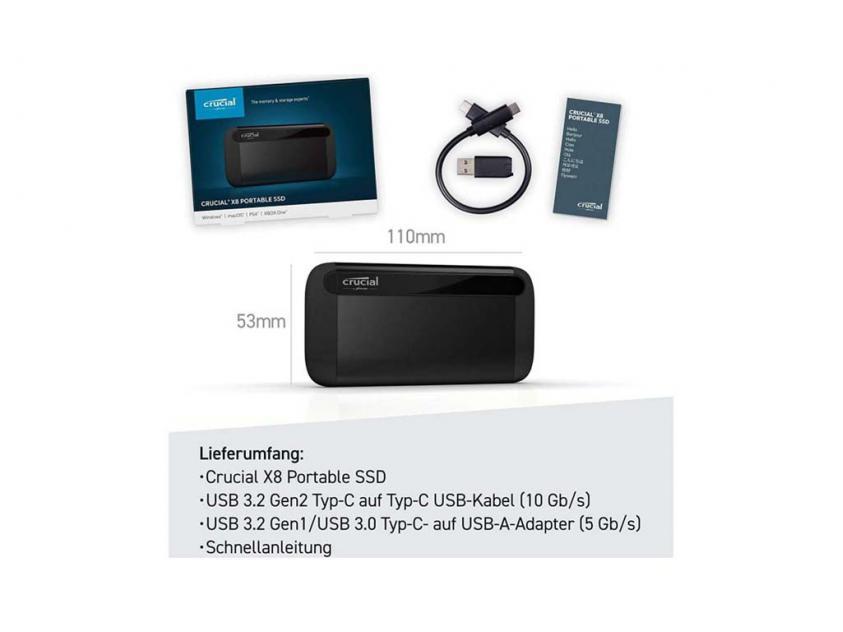 External SSD Crucial X8 2TB (CT2000X8SSD9)