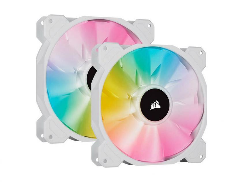Case Fan Corsair iCUE SP140 140mm RGB 2-Pack White (CO-9050139-WW)