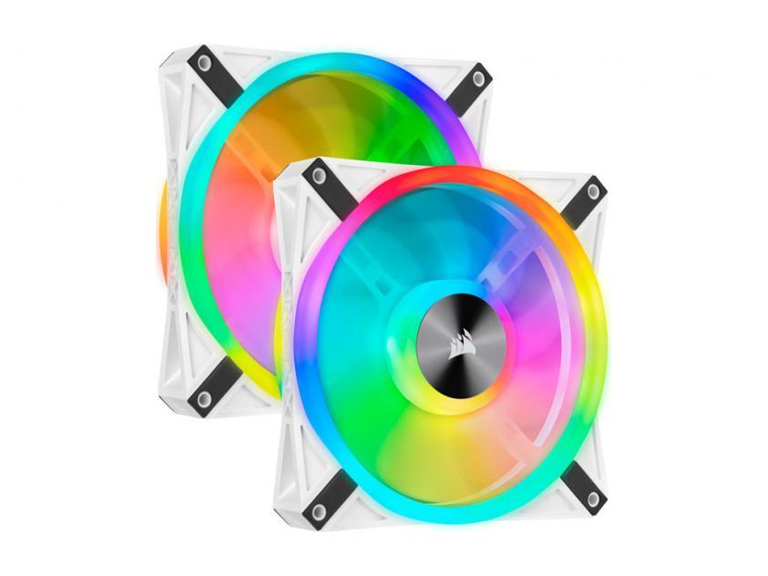 Fan Corsair iCUE QL140 RGB 140mm White - Fan - Dual Pack & Lighting Node Core (CO-9050106-WW)