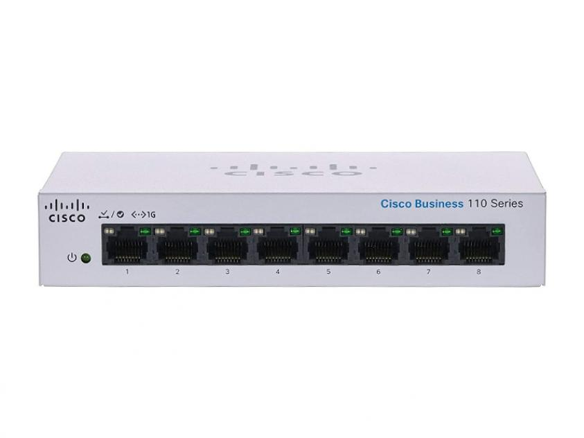 Switch Cisco CBS110 8-Port 10/100/1000 Mbps (CBS110-8T-D-EU)