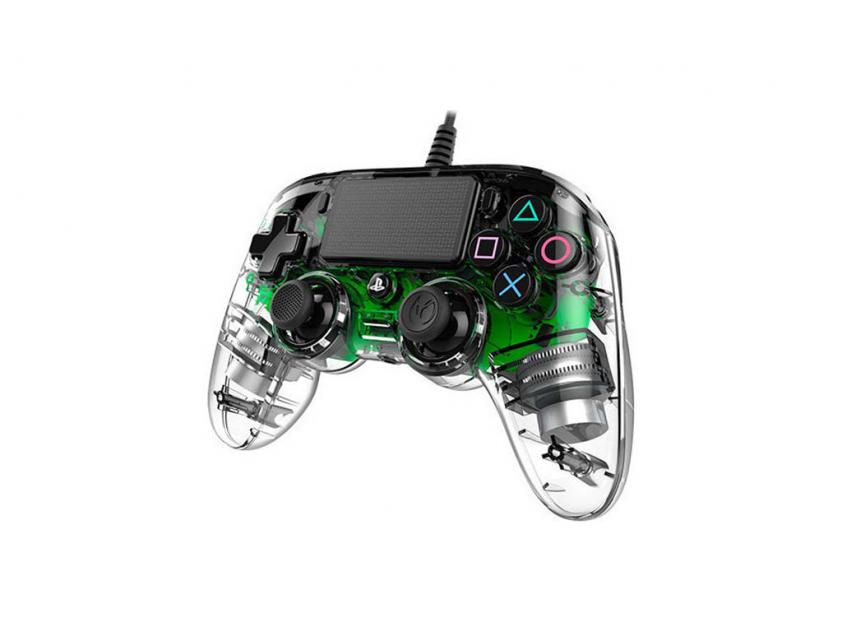 Controller Nacon Crystal Green Wired For PS4 (PS4OFCPADCLGREEN)