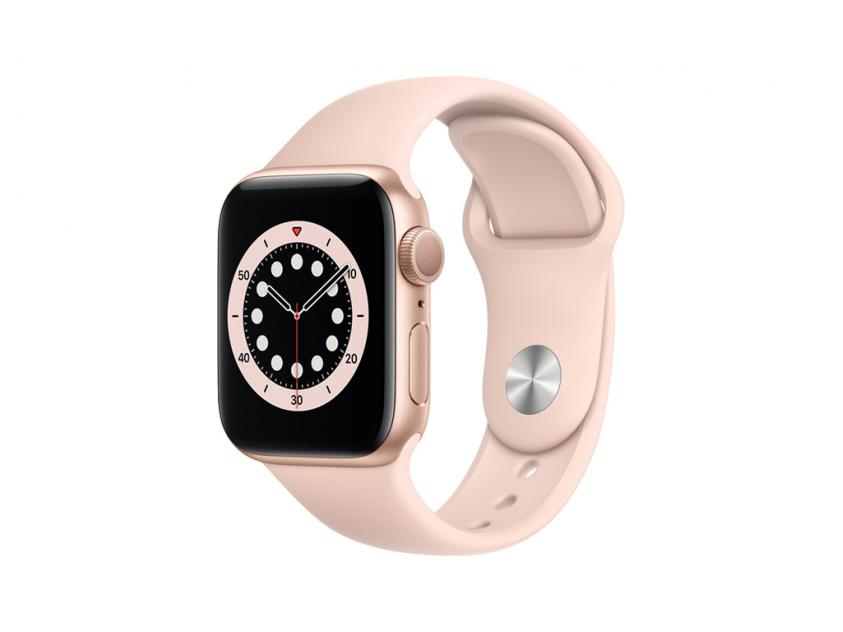 Apple Watch Series 6 Aluminium with Pink Sand Sport Band 44mm Gold (M00E3GK/A)