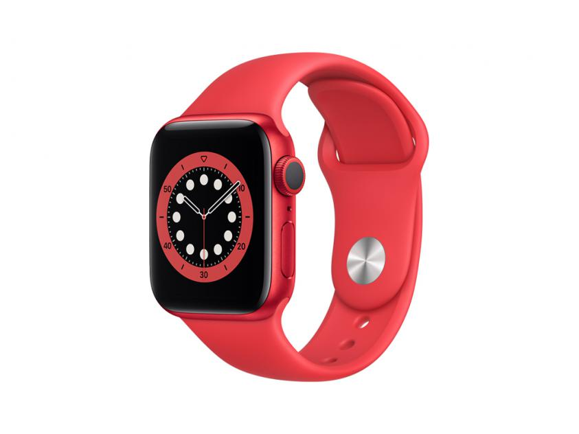 Apple Watch Series 6 Aluminium with Red Sport Band 44mm Red (M00M3GK/A)