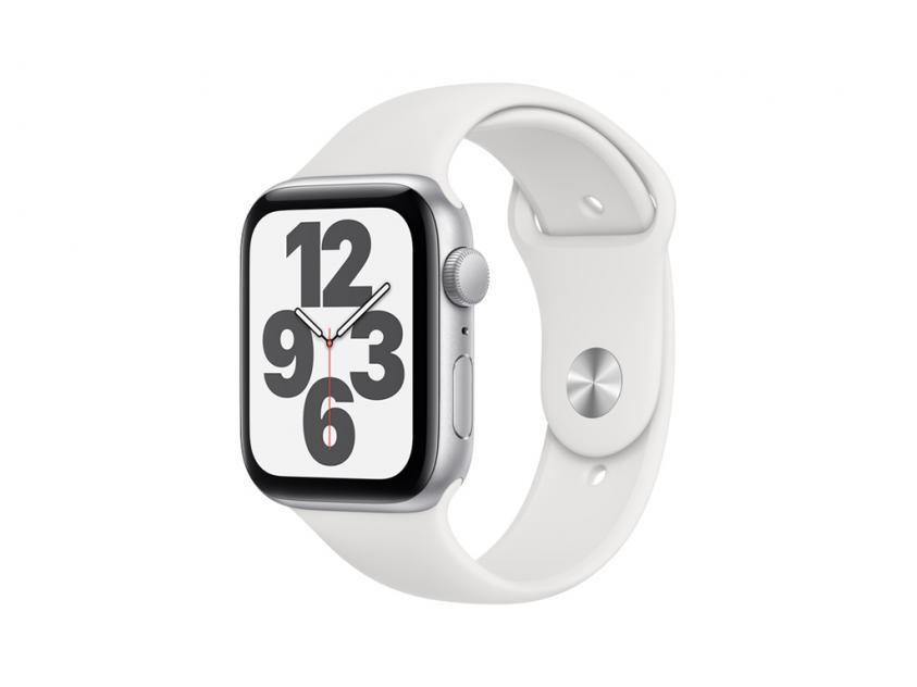 Apple Watch SE Aluminium with White Sport Band 44mm Silver (MYDQ2GK/A)