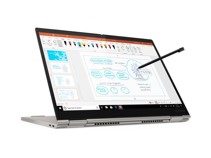 Laptop Lenovo ThinkPad X1 Yoga Titanium Convertible 13.5-inch Touch i7-1160G7/16GB/1TB/W10P/3Y/Grey (20QA001VGM)