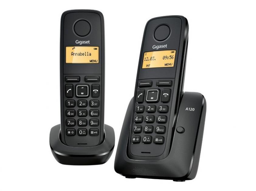 Cordless Phone Gigaset A120 Duo Black (L36852-H2401-T101)