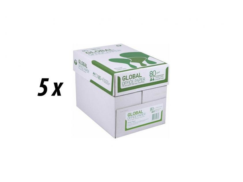 Paper Global A4 80g 5 Boxes (GLOBAL5BOXA4)
