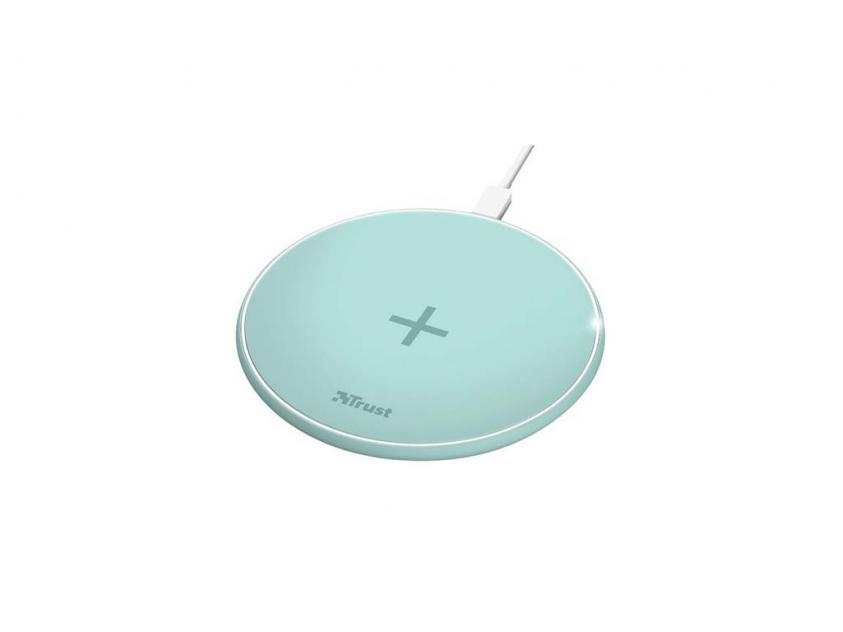 Wireless Charger Trust Qylo 7.5/10W Turquoise (23865)