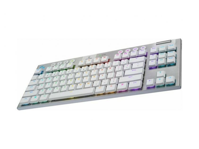 Gaming Mechanical Keyboard Logitech G915 TKL Lightspeed White Wireless RGB US Layout (920-009664)