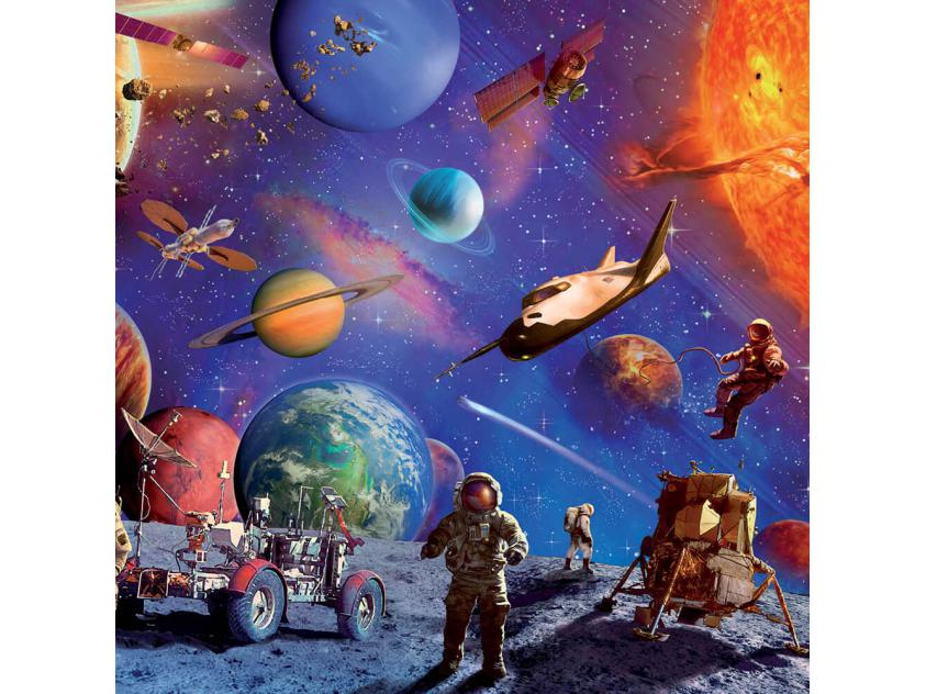 Jigsaw Touch & Feel Space Explorers Glowing 100P (9781488935565)