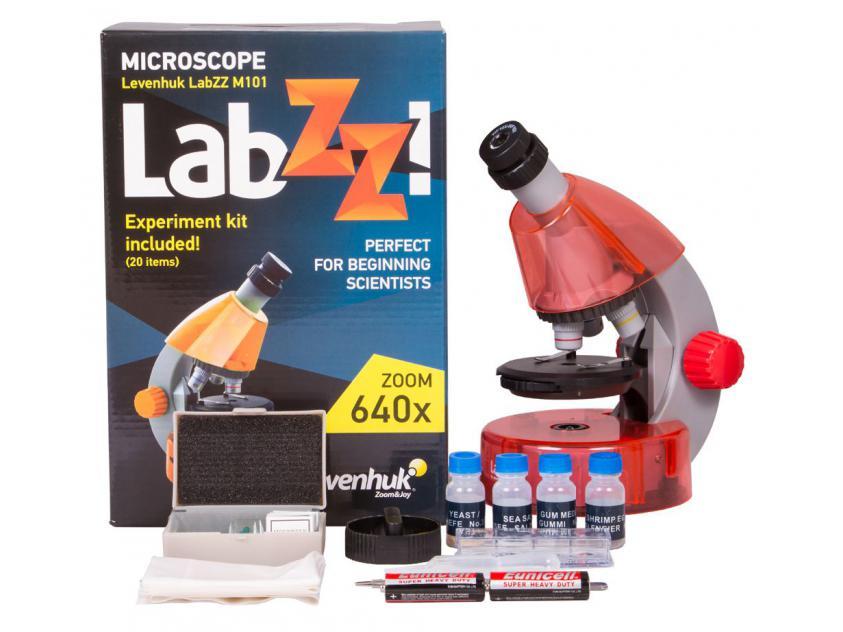 MICROSCOPE LEVENHUK ΒΙΟ LABZ M101 ORANGE (LEV-69731)