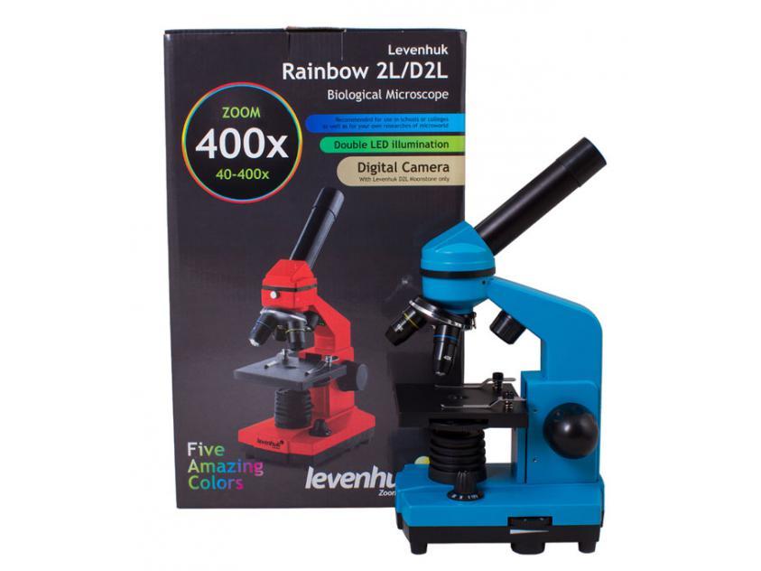 MICROSCOPE LEVENHUK BIO RAINBOW 2L AZURE (643824206106)