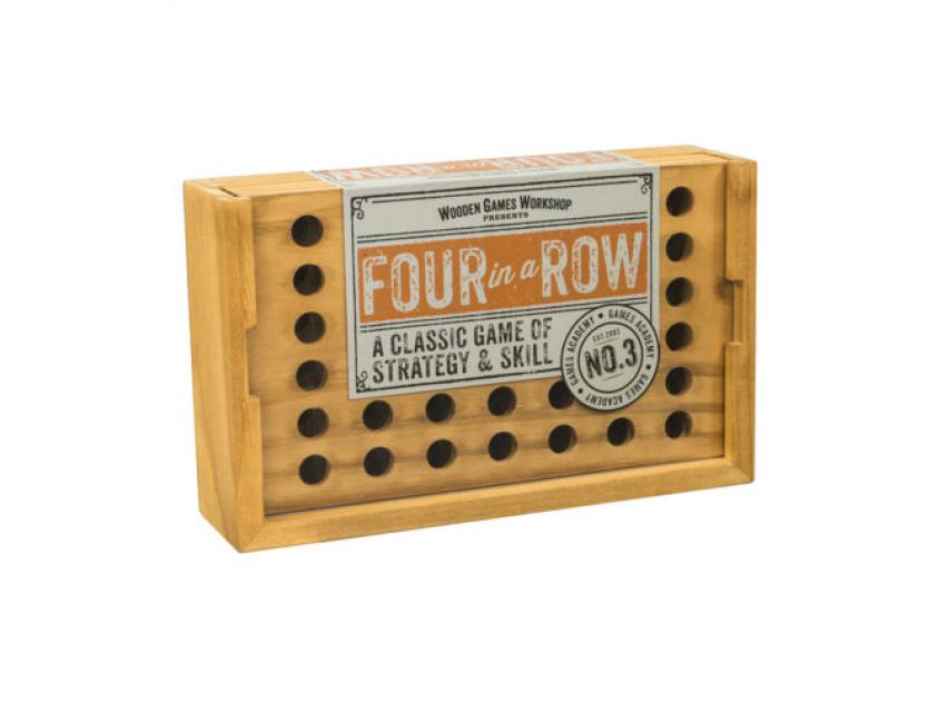 Vintage Board Games Wooden Games Workshop 4in A ROW (5060036537562)