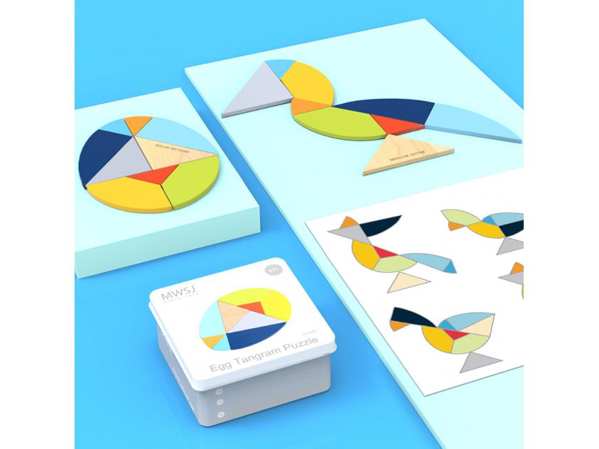 Board Games Egg Tangram Puzzle (6935494725822)